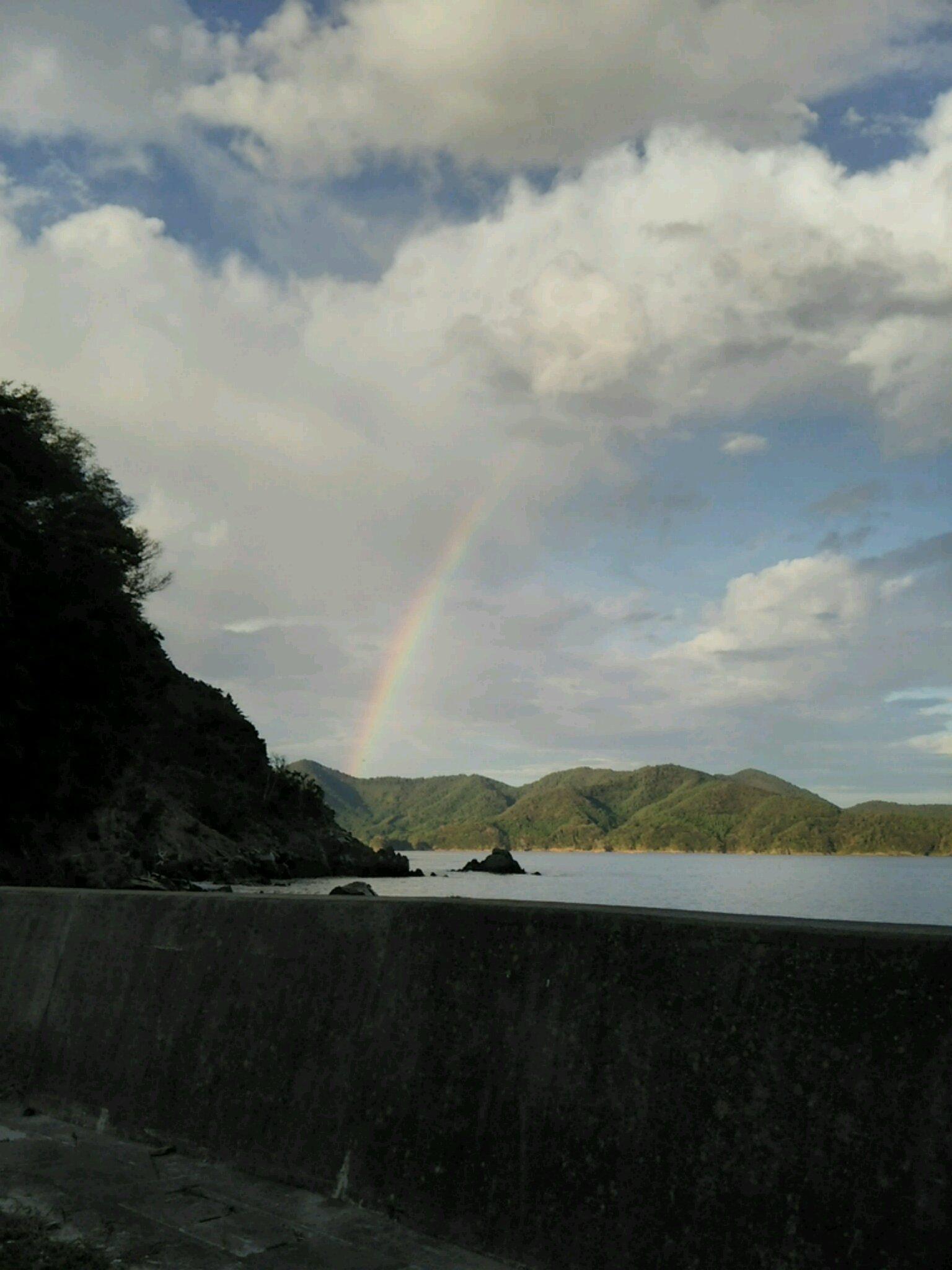 雄勝の小さな虹